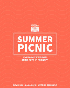 Summer Picnic Instagram Portrait Picnic Flyer