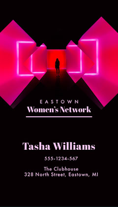 Pink Neon Women's Network Business Card Neon