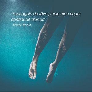 Blue feet Steven Wright quote Instagram square Affiche de motivation