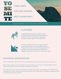 Turquoise Yosemite Travel and Hiking Newsletter Graphic Newsletter Examples