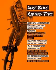 Orange and White Dirt Bike Riding Infographic Bike