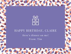 HAPPY BIRTHDAY, CLAIRE Birthday