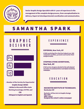 SAMANTHA SPARK Creative Resume