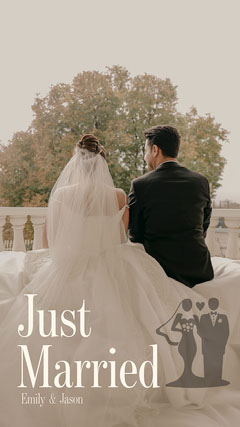Wedding Couple Just Married Snapchat Filter Couple