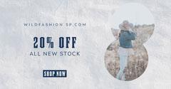 Grey Texture Wild Fashion Facebook Ad Promotion