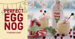 Red, White and Green Egg Nog Fundriser Ad Facebook Banner Fundraiser