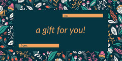 Floral Gift Tag Flowers