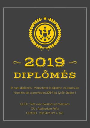 graduation announcements  Carte d'obtention d'un diplôme