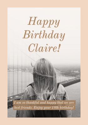 Black and White Birthday Card Bachelorette Party Invitation