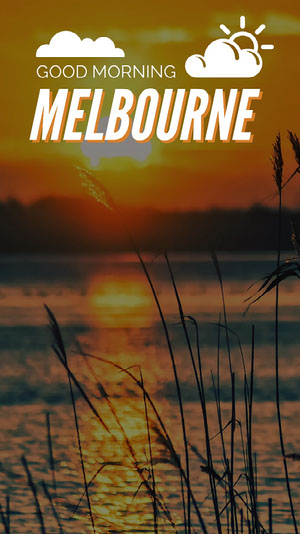 White With Melbourne View Social Post Good Morning Messages