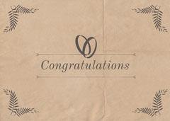 Beige Rustic Old Paper Marriage Congratulations Card  Rustic Wedding Invitation