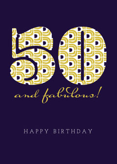50th birthday card Pattern Design
