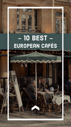 Best European Cafe Instagram STtory with Cafe Photo Instagram Post