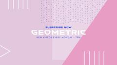 Geometric YouTube Channel Banner Purple