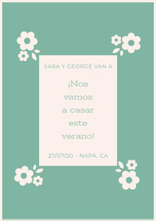 light blue and white floral wedding cards  Tarjetas de agradecimiento de boda