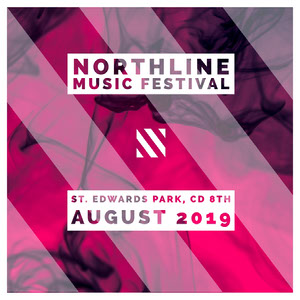 Pink Violet and White Northline Music Festival Social Post Cartel de Festival de Música