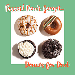 Green, White and Red Donuts for Fathers Day Instagram Post Ad Donut