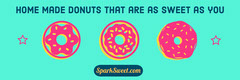 Blue and Pink Confectionery Store Horizontal Ad Banner Donut