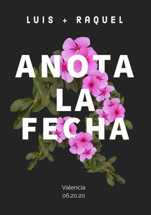 floral save the date card  Guardar la fecha