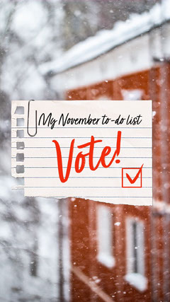 Red & White To-do list Instagram Story Voting