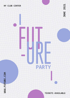 Future Party Flyer Club Party