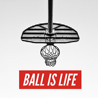 Black, White and Red Basketball Catchphrase Instagram Post Basketball