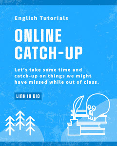 Blue and White Online Catch-Up Instagram Quote  Tutorial