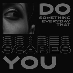 Black and White Quote Photo Instagram Square Scary