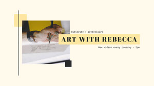 Yellow and Light Toned, Art Video, YouTube Channel Art  Cabecera del canal YouTube