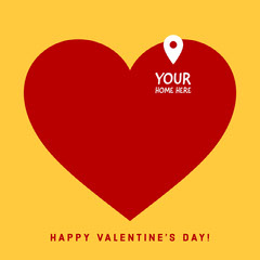 Your home Valentine's Day Instagram Square Heart