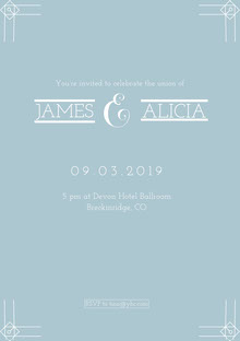 & Wedding Invitation