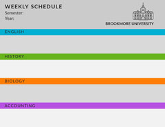 WEEKLY SCHEDULE  College