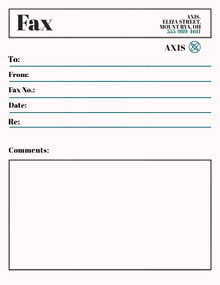 Axis Fax Cover Sheet Lettera
