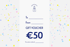 white navy colorful polka dots nail salon gift voucher card  Giveaway