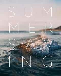 Blue and White, Fresh Summer Sale Ad Instagram Portrait Summer