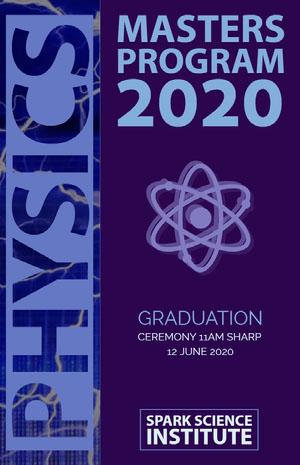Physics Tarjeta de graduación