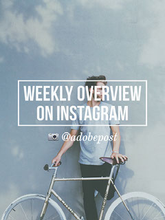 WEEKLY OVERVIEW ON INSTAGRAM Instagram Flyer