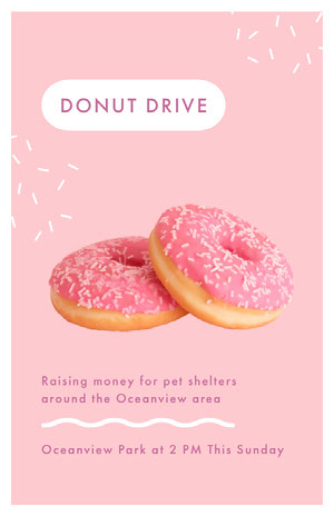 Pink Donut Drive Flyer Pink Flyers