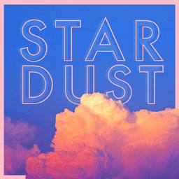 Pink and Blue Clouds Star Dust Instagram Square