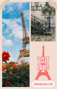 Paris France Travel and Tourism Ad Flyer France