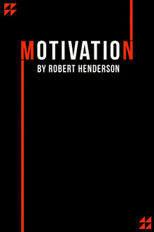 Motivation Red Black Book Cover Couverture de livre