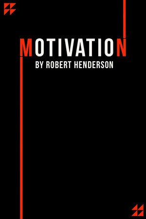 Motivation Red Black Book Cover Motivational Poster