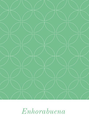 mint green and white patterned congratulations cards Tarjeta de felicitación