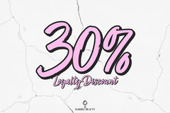 Pink Marble Beauty Postcard Discount