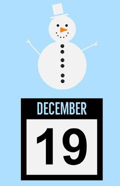 snowman calendar Winter