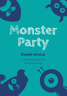Monster Party  Einladung