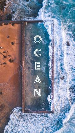 ocean Instagram story Ocean