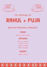 Rahul + Puja Wedding Program