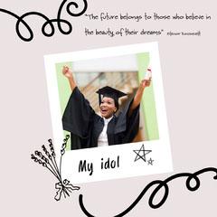 lilac black Polaroid graduation my idol instagram square  Graduation Congratulation