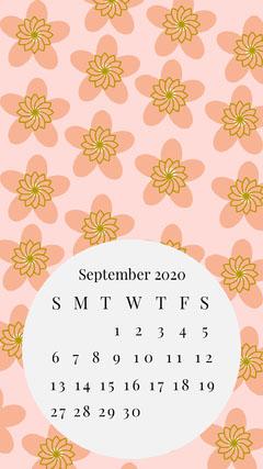 calendar desktop background Flowers